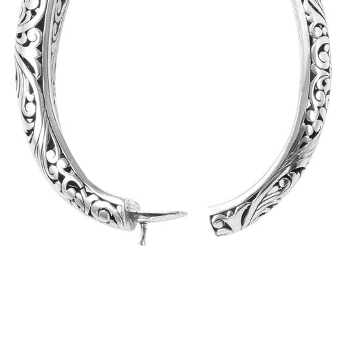 Limited  Edition -  Royal Bali Collection Sterling Silver Full Filigree Bangle (Size 7), Silver wt 33.50 Gms.