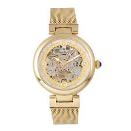 Empress Adelaide Automatic Movement White Dial 5 ATM Water Resistant Ladies Watch in Yellow Gold Tone