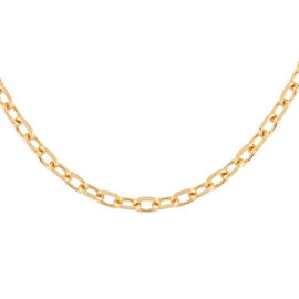 Italian Made - Gold Overlay Sterling Silver Cable Chain (Size 15), Silver wt. 9.73 Gms
