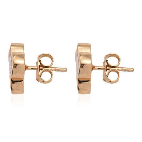 J Francis - 14K Gold Overlay Sterling Silver (Rnd) Earrings (with Push Back) Made with SWAROVSKI ZIRCONIA