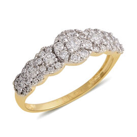 New York Close Deal- 14K Yellow Gold Diamond (Rnd) (I1-I2/G-H) Ring 0.650 Ct.