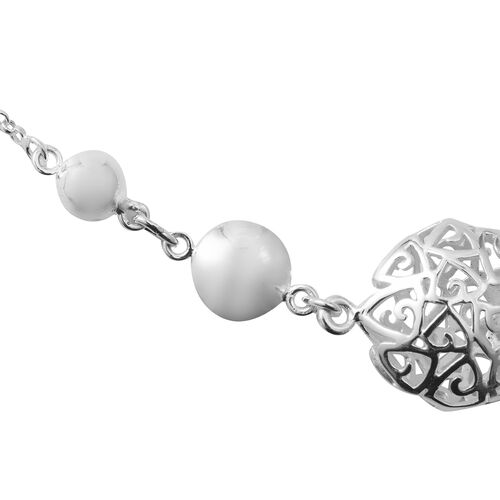 Designer Inspired - Sterling Silver Necklace (Size 20), Silver wt 8.50 Gms.