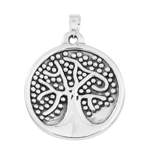 Statement Collection-Sterling Silver Tree of Life Pendant, Silver wt 4.98 Gms.