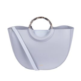 Inyati Georgia Half Moon Bag with Removable Pouch (Size 23x35x13 Cm) - Light Grey