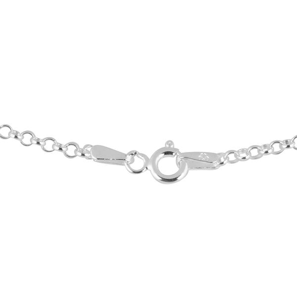 JCK Vegas Collection - Rhodium Plated Sterling Silver Round Belcher Chain (Size 24)