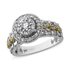 NY Close Out Deal - 14K White and Yellow Gold Diamond (I1-I2/G-H) Ring 1.00 Ct.