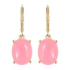 Pink Jade (5.25 Ct) Sterling Silver Earring  5.250  Ct.