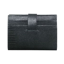Assots London Grove Lizard Skin Texture 100% Genuine Leather RFID Cardholder (Size 8x10cm) - Forest