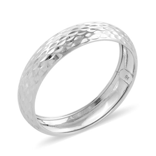Royal Bali Collection 9K White Gold Diamond Cut Band Ring