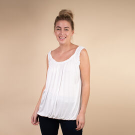 TAMSY Super Soft Vest One Size, ( Fits 8  to 18) - White