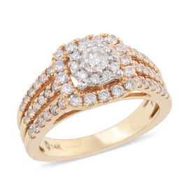 NY Close Out Deal - 14K Yellow Gold Diamond (Rnd) (SI-I1 G-H) Ring 1.00 Ct, Gold wt 5.90 Gms