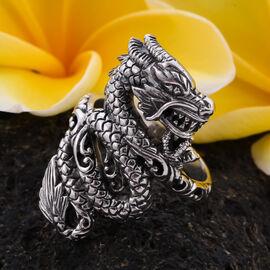 Royal Bali Collection - Sterling Silver Dragon Ring