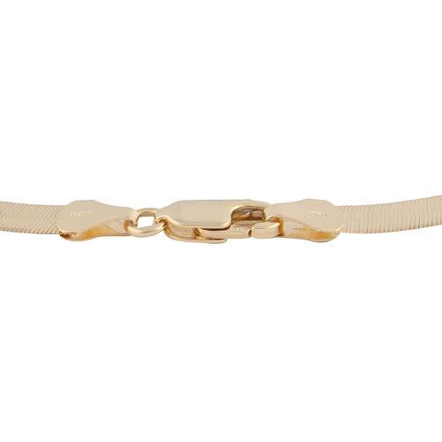Italian Made - 9K Yellow Gold Triple Herringbone Necklace (Size 18), Gold Wt. 6.66 Gms