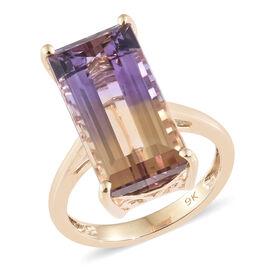 Bolivian Ametrine (8.00 Ct) 9K Y Gold Ring  8.000  Ct.