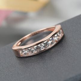 MP J Francis - Rose Gold Overlay Sterling Silver Ring Made with SWAROVSKI ZIRCONIA 1.670 Ct.