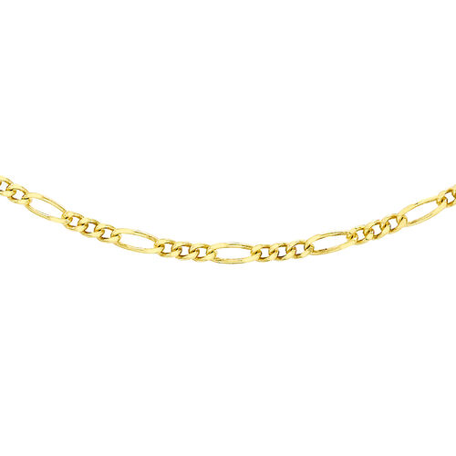 9K Yellow Gold Figaro Chain (Size 18), Gold wt 2.80 Gms