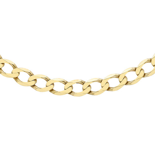 9K Yellow Gold Curb Chain (Size 24) with Lobster Clasp, Gold wt 11.80 Gms