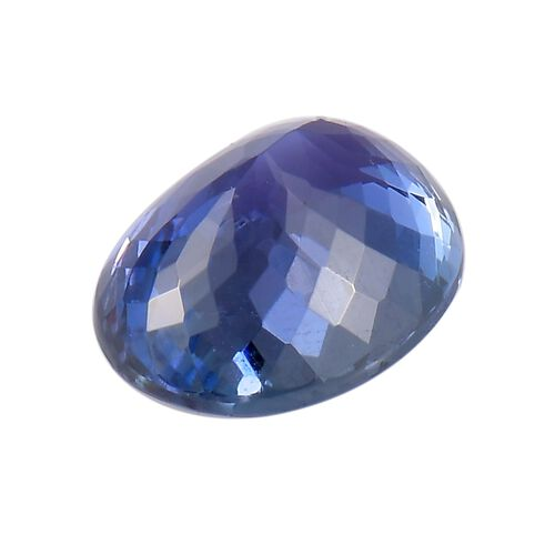 AA Peacock Tanzanite Oval 11x9 Faceted 3.75 Cts
