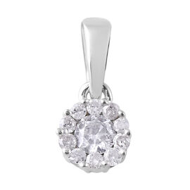 9K White Gold SGL CERTIFIED Diamond (Rnd) (I3 / G-H) Pendant 0.200 Ct.