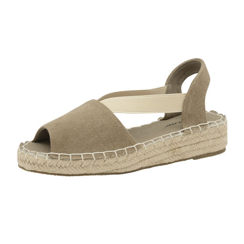 Dunlop Minna Espadrille Sandals (Size 4) - Khaki