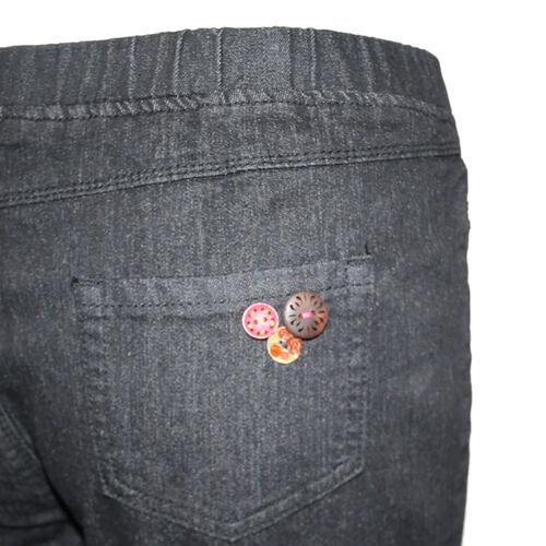 SUGAR CRISP Jeggings with Flower Details (Size 16) - Black