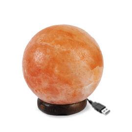Himalayan Salt Ball Shape USB Lamp (Size 8x7 Cm)