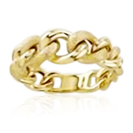 Vicenza Graduated Curb Ring in 9K Yellow Gold
