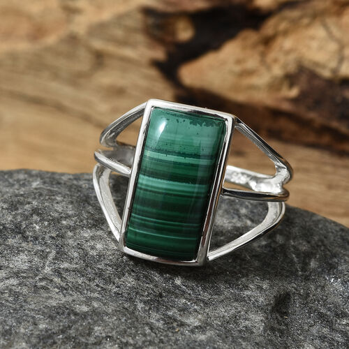 Malachite (Bgt) Ring in Sterling Silver 5.000 Ct.
