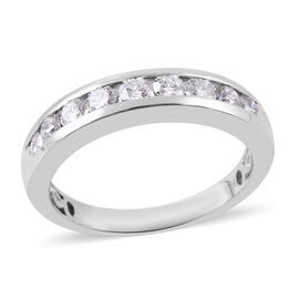 RHAPSODY 1 Carat Diamond Half Eternity Band Ring in 950 Platinum 6.5 Grams IGI Certified