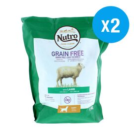 Nutro: Adult DOG Dry Food Grain Free with Lamb - 1.4KG (Pack of 2)
