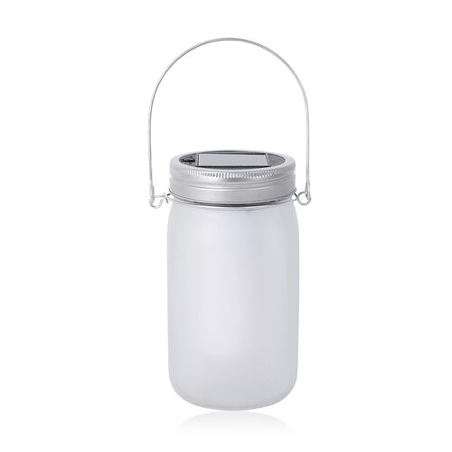 Home Decor Frosted Jar Flame Effect LED Light