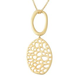 RACHEL GALLEY Lattice Pendant with Chain in Gold Plated Sterling Silver 30 Inch