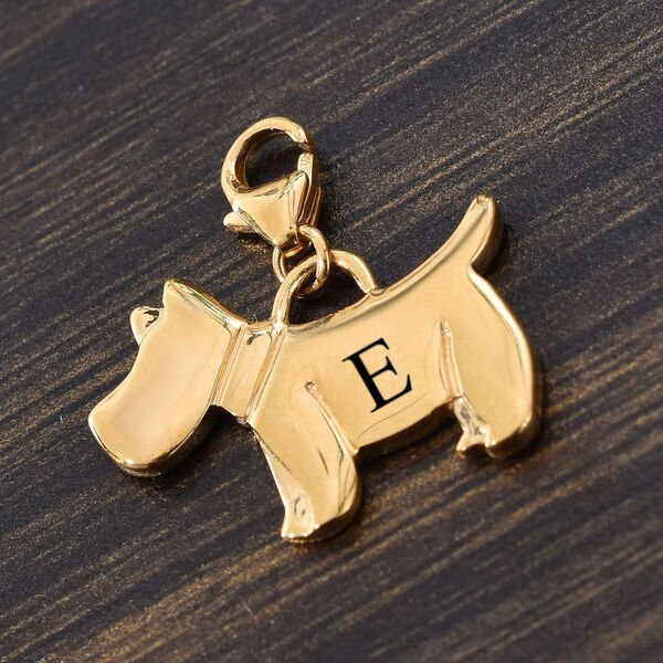 Personalised Engravable Scottish Terrier Dog Charm in Sterling Silver