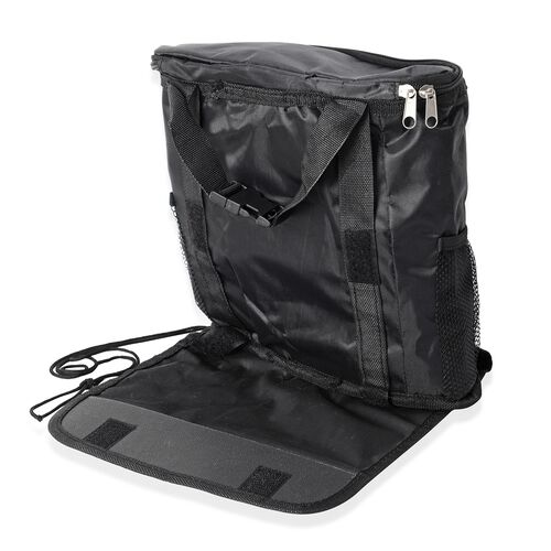 3 piece Car Accessories Kit - Back Seat Hanging Organiser, Multi Function Car Seat Hook and Trash Bag Frame