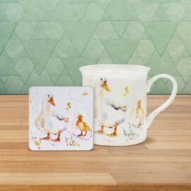 Lesser & Pavey - Country Life Duck Mug and Coaster (MUG-8.5X7.5 CM/ COASTER-10.5X10.5 CM)