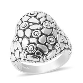 Bali Legacy Collection Sterling Silver Dome Ring, Silver wt 7.40 Gms.