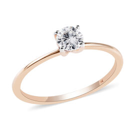 9K Yellow Gold SGL Certified Diamond (I3/G-H) Solitaire Ring 0.50 Ct.