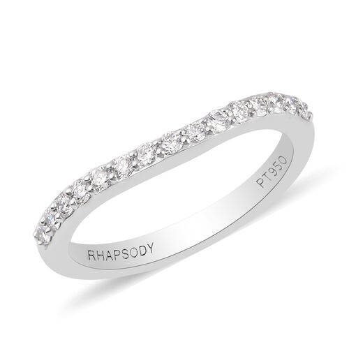 RHAPSODY 950 Platinum IGI Certified Diamond (VS/E-F) Ring 0.20 Ct.