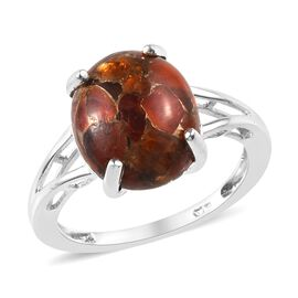 3 Carat Fire Opal Solitaire Ring in Silver