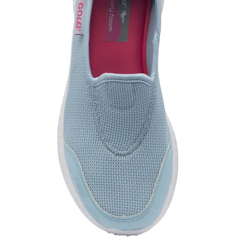 Gola San Luis Slip on Trainer (Size 3) - Powder Blue/Pink