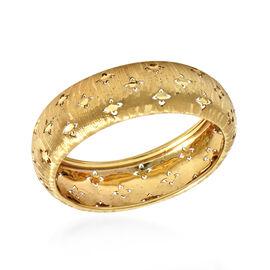 Italian Made - 9K Yellow Gold Satin Finish Band Ring