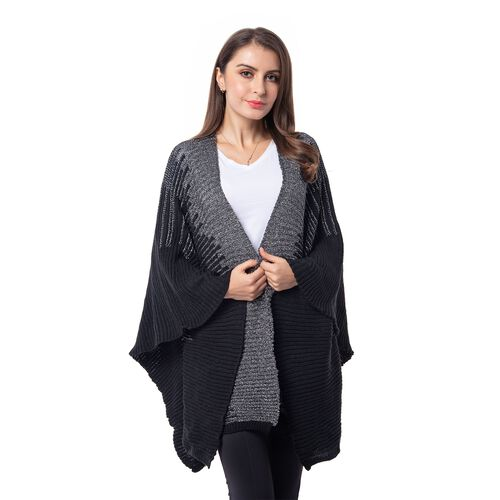 Black Colour Kimono (Size 118x60 Cm)