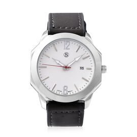 STRADA Japanese Movement Water Resistant Watch in Stainless Steel - Dark Taupe