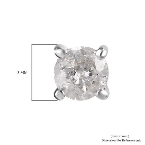 9K White Gold SGL Certified Diamond Stud Earrings (with Push Back) 0.20 Ct.