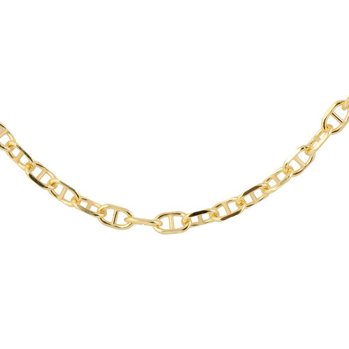 Made in Italy - 14K Gold Overlay Sterling Silver Anchor Chain (Size 20), Silver wt 18.09 Gms