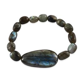 Labradorite  Stretchable Bracelet (Size 6.75) 155.65 Ct.