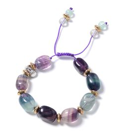 Fluorite and Multi Colour Gemstone Beads Bracelet (Size 6.5- 9)  280.000  Ct.
