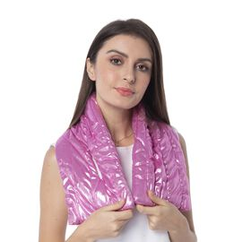 Pink Colour Scarf with Bling Effect (Size 170x18 Cm)