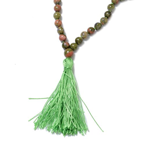 One Time Mega Deal-Unakite (Rnd 5-9 mm) Beads Necklace (Size 36) 277.500 Ct.