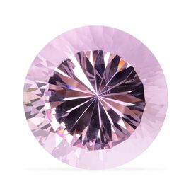 Brilliant Cut Round Shape Crystal Glass Decoration - Pink Sapphire Colour